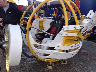 The Bungee ball in the process of being transformed into the Takeaway Plane